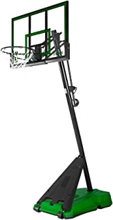 Spalding 50 in. Acrylic Portable Angled Pole Hercules Base Basketball System - Green/Black