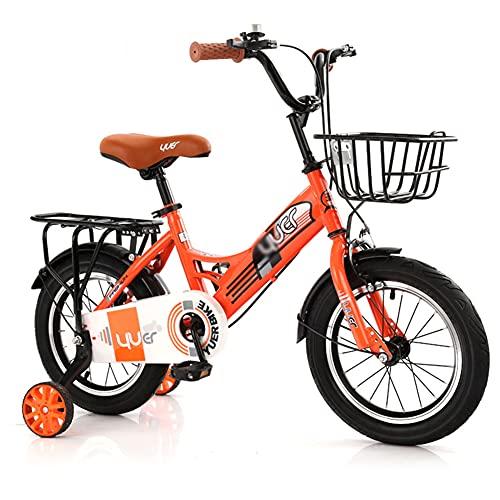 LFFME Bicicleta para Niños De 12'14' 16'18' para Niñas Y Niños De 3 A 12 Años con Ruedas De Entrenamiento Y Frenos De Mano, Manillar Y Asiento Ajustables En Altura,C,12