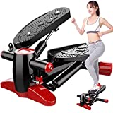 Aimik US Stock Steppers for Exercise Workout Machine,Stepper Home Mini Hydraulic Mute Mountaineering Pedal Multi-Function Fitness Trainer Stepper, Home Office Gym Sport Machine