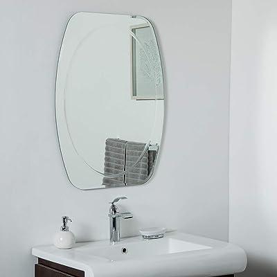 decorWonderland Remiform Frameless Bevel 31.5 x 23.6 Wall, Bathroom, Vanity Mirror, 31.5x23.6X.5, Silver