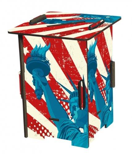 Stifteköcher / Spardose Freiheitsstatue USA Twin Box Werkhaus