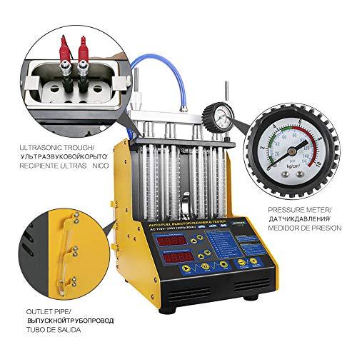 Autool - Limpiador de inyectores de 220 V, ultrasónico, gasolina, coche, inyectores de coche, limpiador de inyectores diésel, comprobador, herramienta...