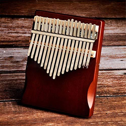 SCVBH Kalimba Mbira 17 Tasten Körper Daumen Klavier Holz Mahagoni Mbira Musikinstrument and Price Brown
