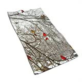 EXking Birken & Kardinäle Bedrucken Handtücher Extra große Handtücher Schnelltrocknend, leicht