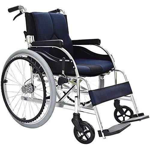 Transporte médico sillas de ruedas ligeras 13,6 kg comodidad ergonómica apoyabrazos plegables, elevación de la pierna 100 kg, el peso 40 * 42cm anchura del asiento, el transporte silla de rued
