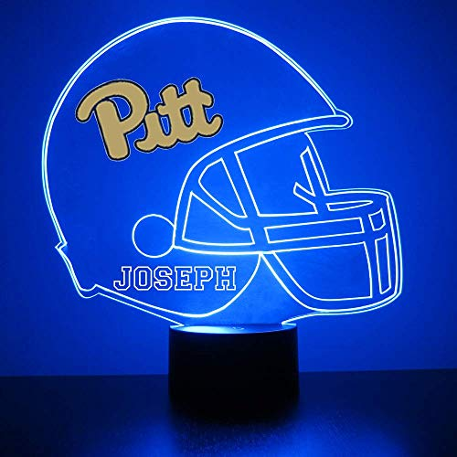 Mirror Magic Store Pittsburgh Panthers Football Helmet Sports Fan Lamp/Night Light - LED - Personalize for Free - Featuring Licensed Decal