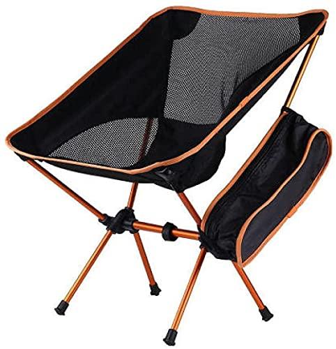 SSFZ Mochila ligera plegable al aire libre silla plegable de almacenamiento portátil pequeña silla de limpieza silla de camping al aire libre y picnic-naranja