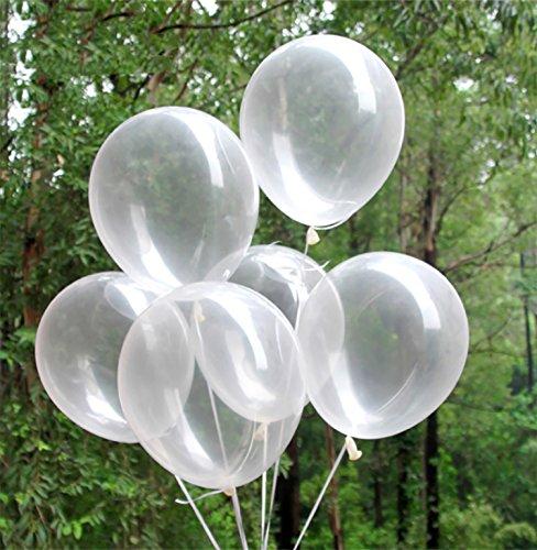 Beyond Dreams® 50 Luftballons für Kindergeburtstag Party Deko | Durchsichtige Luftballon für Geburtstag Hochzeit | Transparente große Ballons zum Sommerfest Kinderparty Dekoration |