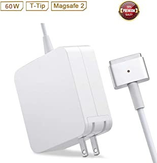 Mac Pro Charger Replacement for MacBook Pro with 13-inch Retina Display After 2012 Ac 60W Magsafe 2 T-Tip Power Adapter Connector