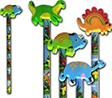 Dinosaur Pencil and dinosaur rubber <span class='highlight'>stationery</span> & party bag filler x 6