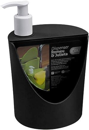 Dispenser R&J 600Ml Coza Preto 1 Polipropileno