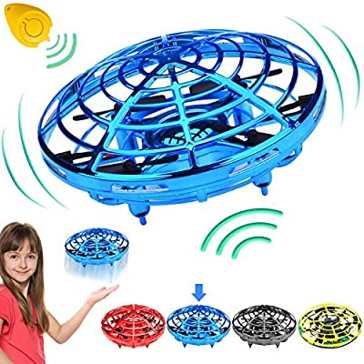 Camlinbo Flying Toys Drones for Kids Mini Drone, Flying Ball RC UFO Flying Saucer Toys Hand & Remote Controlled Quadcopter for Kid Light Up Flying Ball Toys Hover Birthday Gift for Kids by Camlinbo