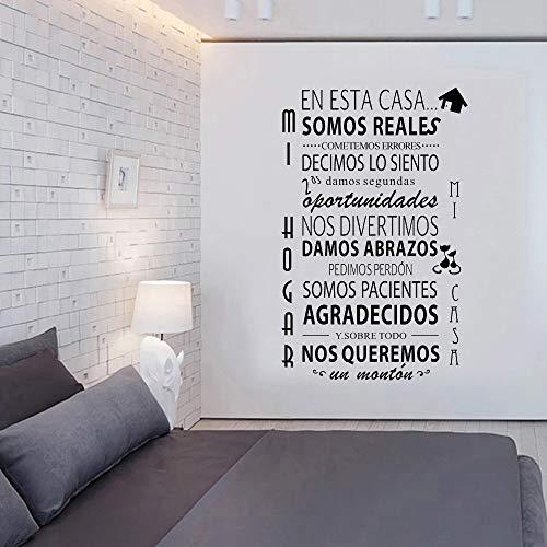 España pegatinas de pared autoadhesivas reglas de la casa pegatinas de pared plantas verdes en macetas Mural de hojas tropicales naturales