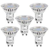 LE Bombillas LED, GU10 3W Halógena Blanco cálido luz de día, 2700k bajo consumo, Pack de 5