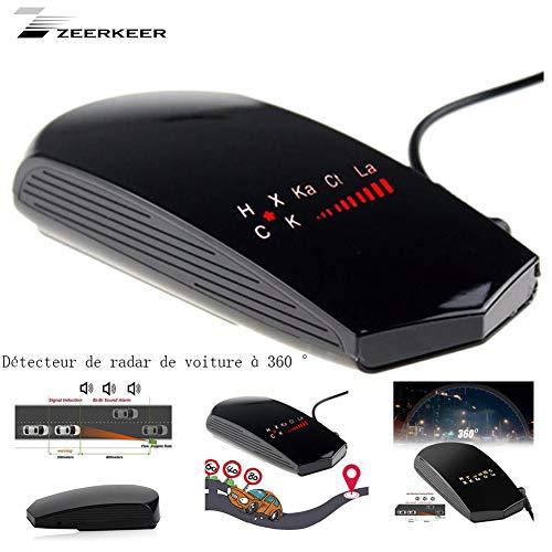 Zeerkeer Auto Radar Detektor 16 Bands Led-anzeige 360 Grad Radar Erkennung Geräte Anti Geschwindigkeit Radar Gerät Voice Alarm Unterstützt Russisch & Englisch