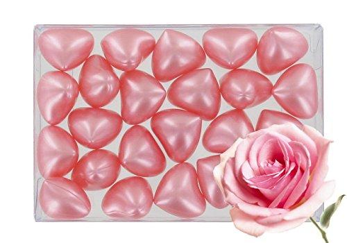 Caja de 24 perlas de aceite de baño fantasías - Corazón