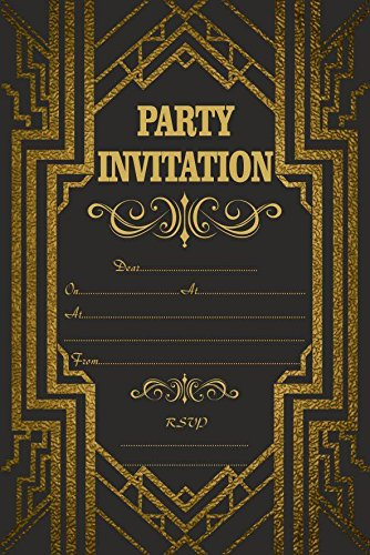 10x invitation anniversaire soirée anniversaire Gatsby Vintage Art Deco