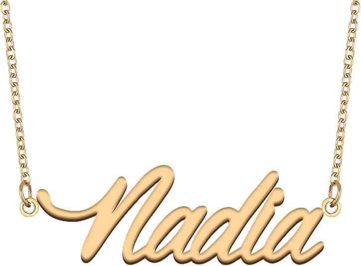 Nadia Name Necklace for Birthday
