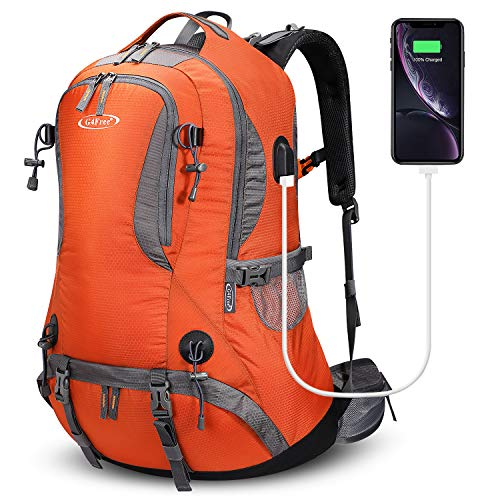 G4Free 50L Rucksack Hiking Backpack Mountaineering Bag Waterproof Travel Camping Trekking Daypack Outdoor Sports Backpack with Rain Cover for Men Women