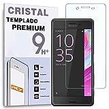 REY Protector de Pantalla Curvo para Sony Xperia X/Xperia XP, Transparente, Cristal Vidrio Templado Premium, 3D / 4D / 5D