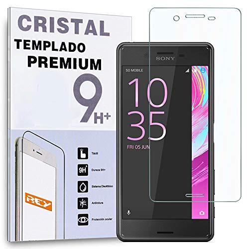 REY Protector de Pantalla Curvo para Sony Xperia X/Xperia XP, Transparente, Cristal...