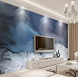 Murwall Brush Wallpaper Dark Blue Splash Wall Mural Abstract Line Wall Print Modern Home Decor Cafe Design