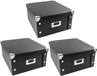 Ideen mit Herz Lot de 3boîtes de rangement pliables, avec couvercle, en carton et métal,31 x 26 x 14cm