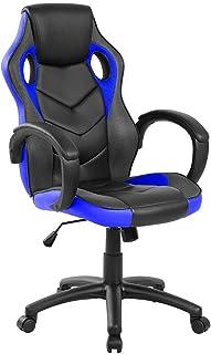 Archimede ga9381b Sillón Gaming Adulto, Piel sintética, Azul/Negro, 61x 66x 116cm