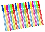 Oojami 18 Pack Bubble Wands - 14 inches Assortment of Colors, Ideal for Party Favors, Birthday, School, Easter, Graduation, Shower, Bubble Theme Party