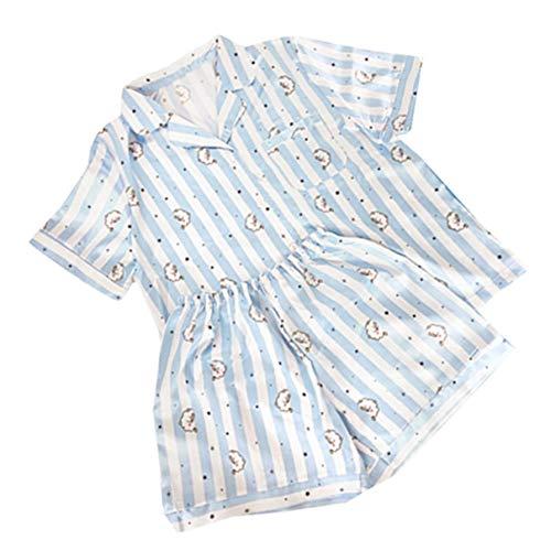 MIFIN Stampato Pigiama Due Pezzi Set Summer Pyjama Set (Rj, S)