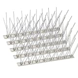 KKY 24 Pack Bird Spikes –13 inch Anti-Bird Nails Bird Repellent Metal Bird Deterant Spinners of Stainless Steel Bird Spikes for Pigeon and Other Small Birds 25.9 Ft…