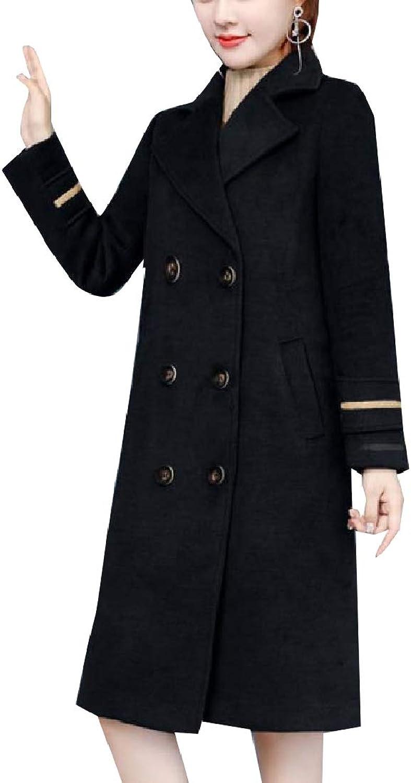 Unastar Womens Below The Knee PlusSize MidLong Windbreaker Jacket Coat