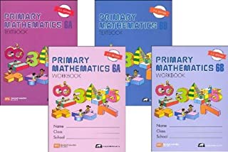 Primary Mathematics Grade 6 SET--Textbooks 6A and 6B, Workbooks 6A and 6B