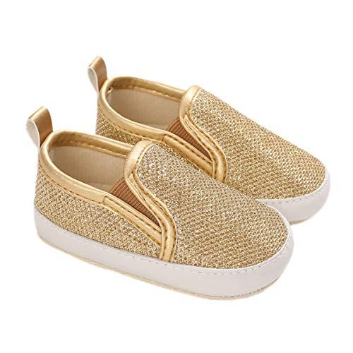 DEBAIJIA Babyschuhe Kleinkind Lauflernschuhe 12-18M Kinder Schuhe Jungen Turnschuhe Mädchen Leichtes Weiche Sohle 20 EU Gold (Etikettengröße 3)