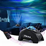 Northern Lights Aurora Projector, AIRIVO Star Projector Bluetooth Music Speaker, White Noise Night Light Galaxy Projector for Kids Adults , for Home Decor Bedroom/ Ceiling/Party (Black)