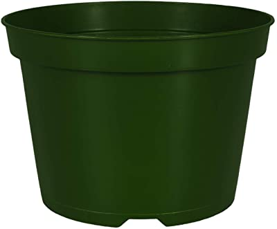 Outdoor Grower Pot - The HC Companies 8_Inch Round Plastic Planter with Drainage Green (AZN08000B71)