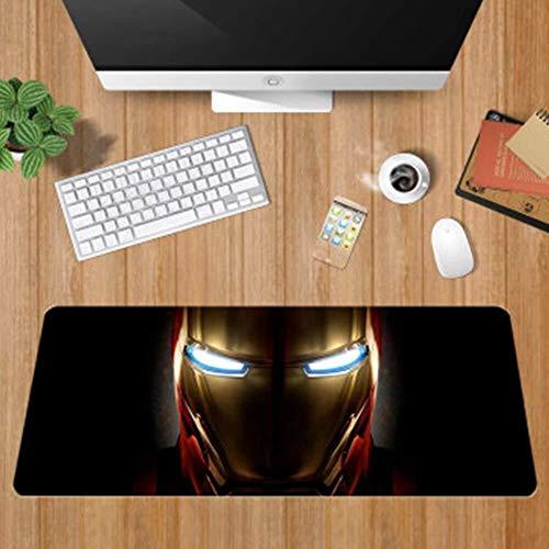 CFTGB Teclado del Juego Alfombrilla de ratón Grande Alfombrillas de Ratones The Avengers superhéroe Iron Man Hulk Thor Hammer Estera Mousepad del Ordenador PC Alfombrilla de ratón