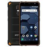 poptel P9000 MAX Smartphone 4G 9000mAh IP68 Impermeable ROM de 4 GB RAM 64 GB MT6750 Octa Core 5.5 Pulgadas FHD Pantalla 1920 * 1080P Cámara de 13MP NFC OTG Huella Dactilar (poptel p10, Naranja)