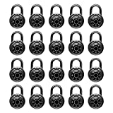 Standard Dial Combination Lock, 2 in. Wide, with Different Combinations, Lock for School, Employee, Gym & Sports Locker, Case, Toolbox, Fence, (Pack of 20)