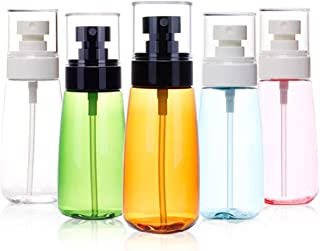 Mist Spray Travel Bottles, Refillable 2oz Leakproof Water Sprayer, Plastic Empty Perfume Atomizer Bottles Toiletry Container for Cosmetic Skincare Makeup Setting Spray- 5 Pack 60ml