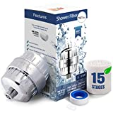 15 Stage Shower Filter - Shower Head Filter - Chlorine Filter - Hard Water Filter - Water...
