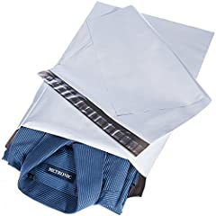 PROVIDES CONFIDENTIALITY - These poly mailers were white outer surface, black inner lining, so it looks like light grey color not a true bright white. The Mailing Bags used of opaque materials convenient for protect your privacy with a professional a...