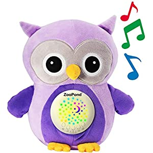 ZooPond – Baby Sound Machine, White Noise Machine Baby, Baby Soother, Crib Soother. Baby Sound Machine for Sleeping, Crib Toys With Music and Lights, Baby Sleep Aid, New Baby Gift. Susher (Purple Owl)