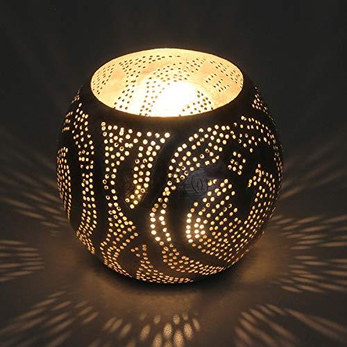 Casa Moro Orientalische Silber Laterne Nuria aus echt versilbertem Messing | Kunsthandwerk | Windlicht Messinglaterne Handmade Gartenwindlicht Teelichthalter Kerzenhalter Tischlaterne | L8013