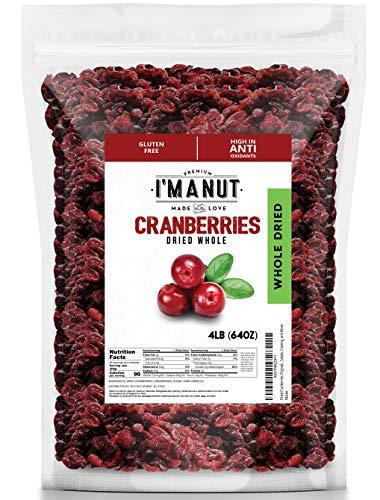 Dried Cranberries Original 4 Pounds,Resealable Bag