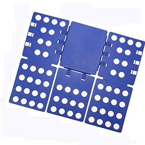BIZS Camisa Carpeta Camisa Camisa Plegable, Camisetas Ropa Carpeta, Camisa Tablero De Carpeta, Tshirt Organizer, Tablero Plegable, Placas Plásticas Duraderas Carpetas Plegables (Color : Azul)