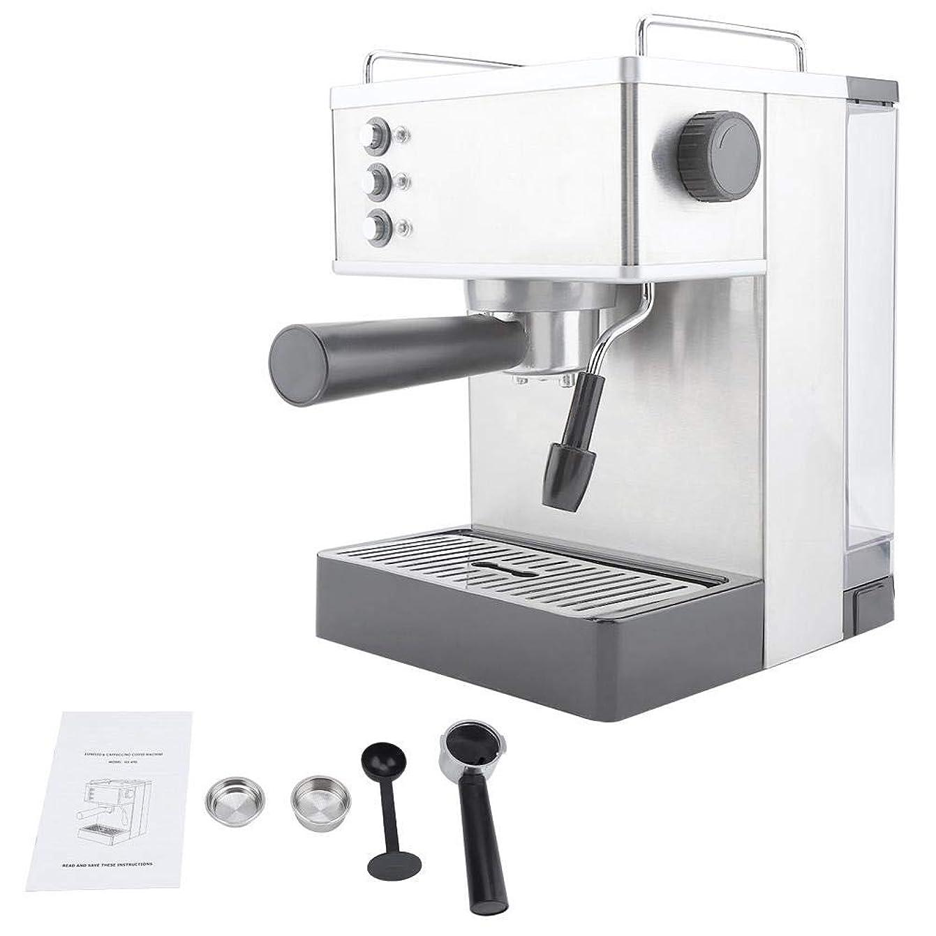 オゾンポーズセンチメンタルコーヒーマシン、ステンレススチールエスプレッソコーヒーマシンコーヒーメーカー高圧イタリアポンプ(US Plug)