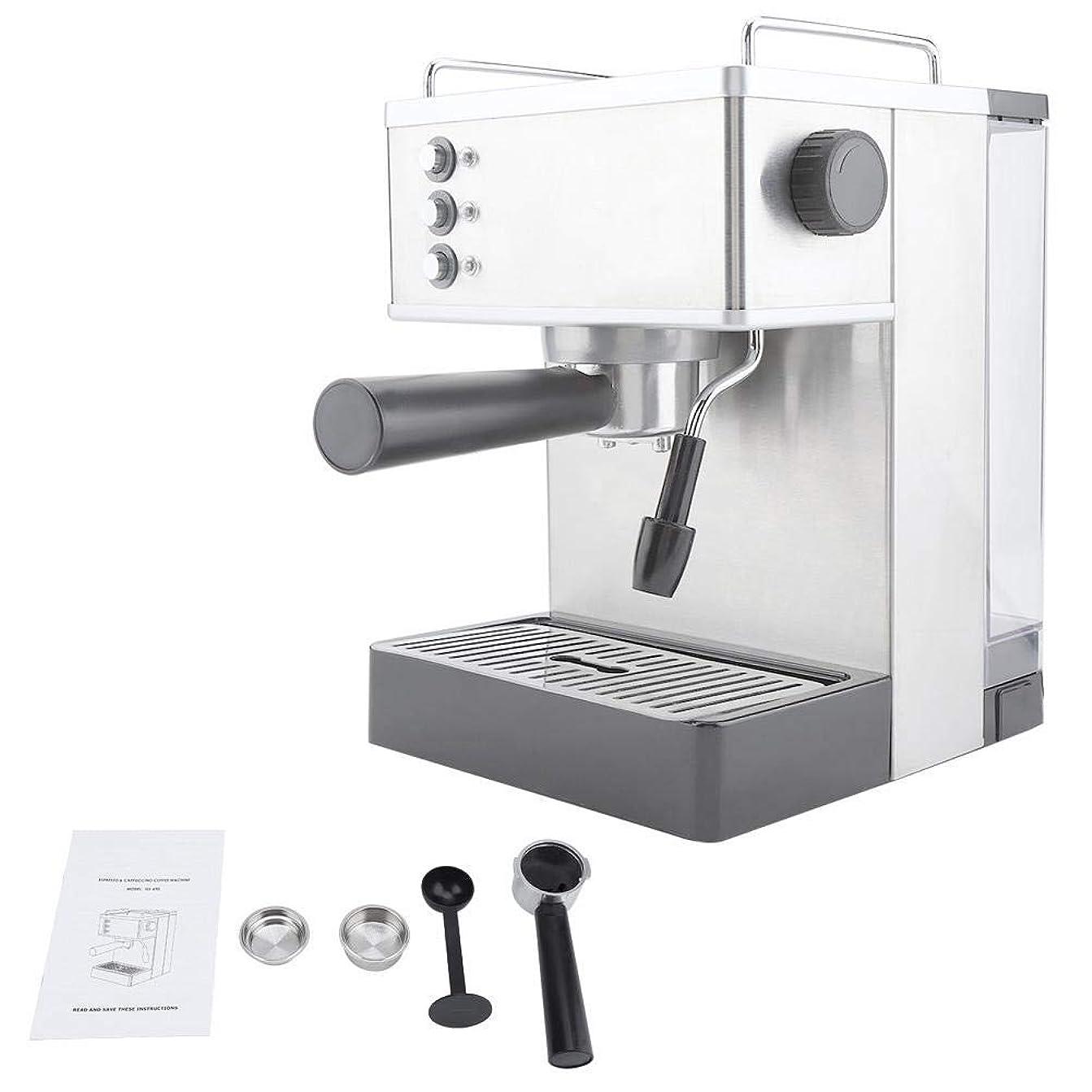市民権過去豪華なコーヒーマシン、ステンレススチールエスプレッソコーヒーマシンコーヒーメーカー高圧イタリアポンプ(US Plug)