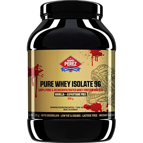 Pure Whey Protein Isolate 96-100% Proteína de suero microfiltrada - 990 g - Vainilla