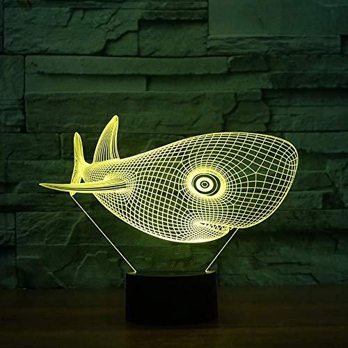 3D LED Visual 7 kleurrijke lamp, groot hoofd, Ketaceo voor balken, bureaulamp, nachtlampje